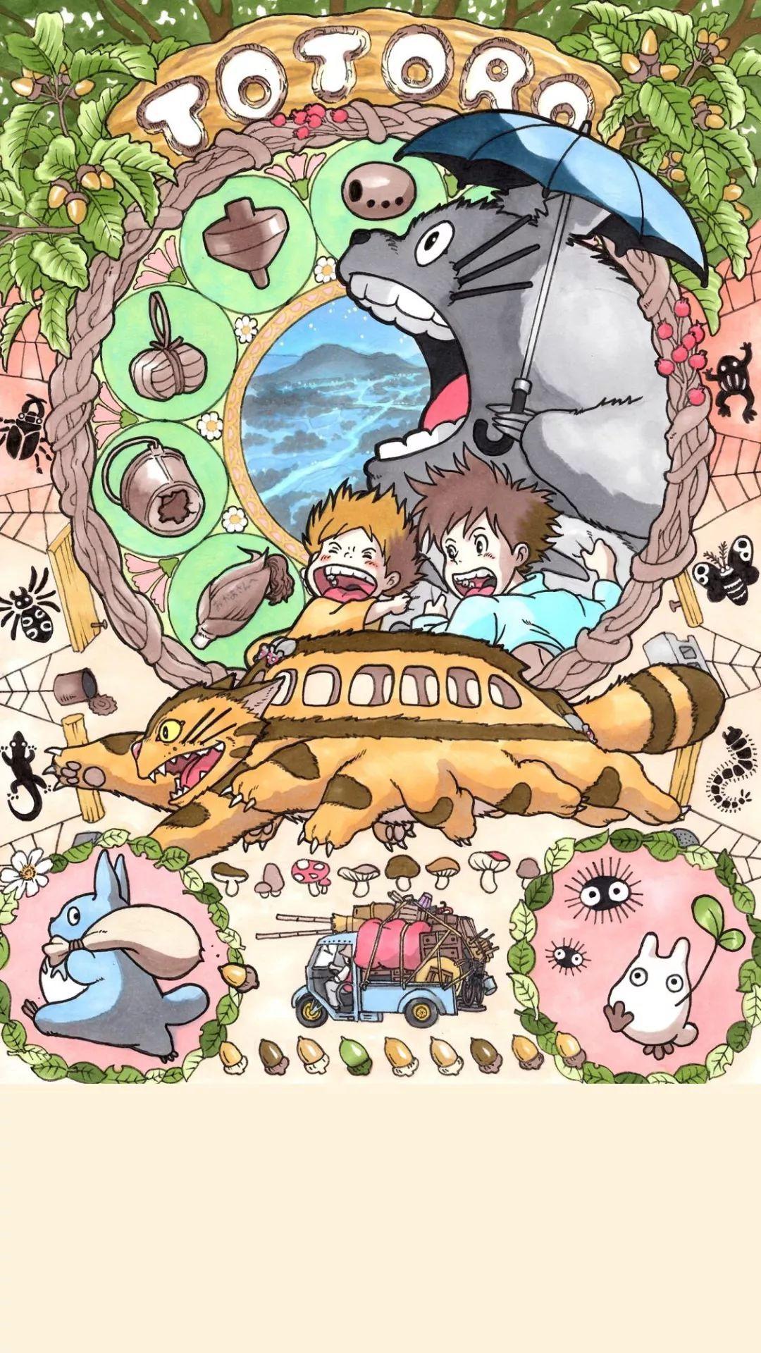 〖中影星美海报〗宫崎骏《龙猫》国内上映,手机壁纸来一波