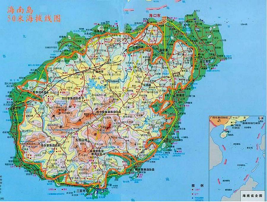 中国东北出海口_如果南极冰川全部融化,中国的版图可能是这样,看看你家的 ...