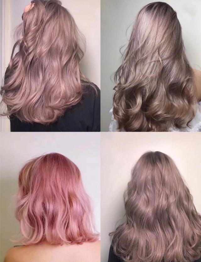 2019发色流行趋势图片_2019年很流行的粉棕发色,妹子们染上这么一种颜色整个人都会变得格外