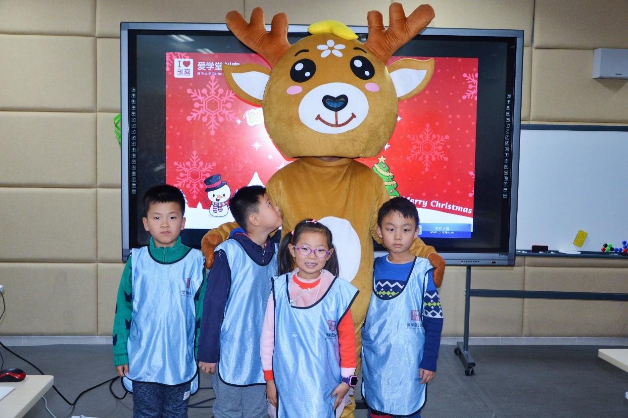 """爱学堂第三期""""创客营""""活动圆满结束,神奇的鹿星圣诞贺卡原来还可以图片"""