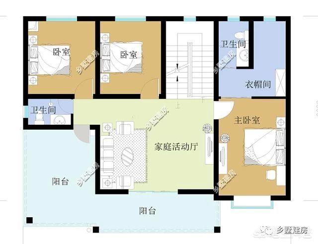 一层平面图,设计两卧室,客厅,堂屋,餐厅,厨房,卫生间,人性化设计,满足