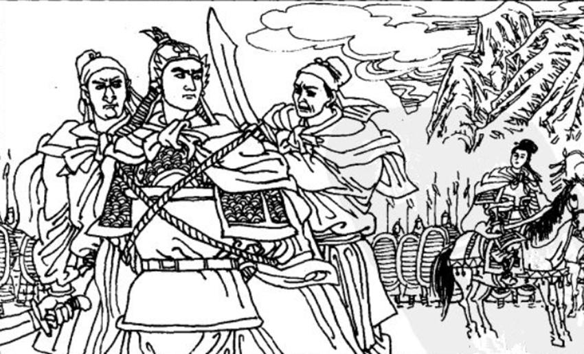 薛丁山啥武力?遇到女将就被擒,两位擒后逼他娶,惹不起只好从命