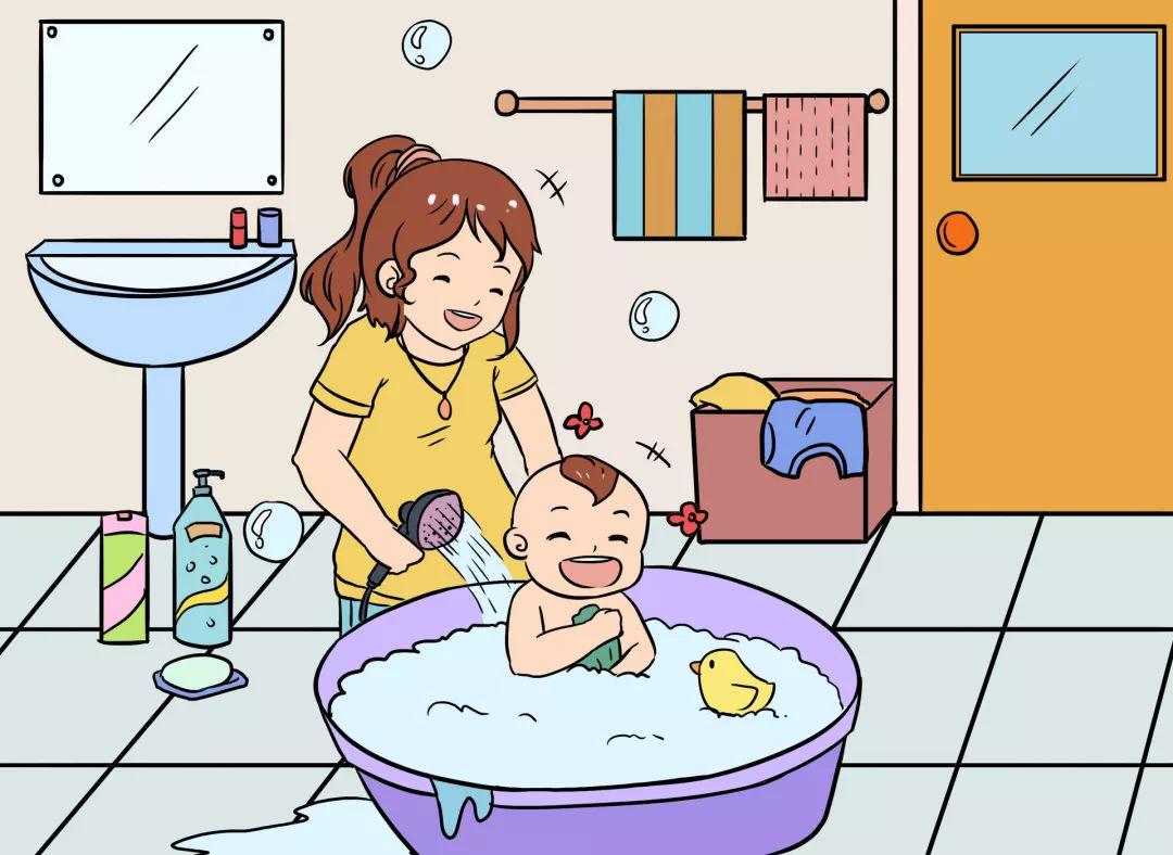 冬季太冷不想洗澡?这样做,不仅妈妈放心还能促进宝宝生长发育图片