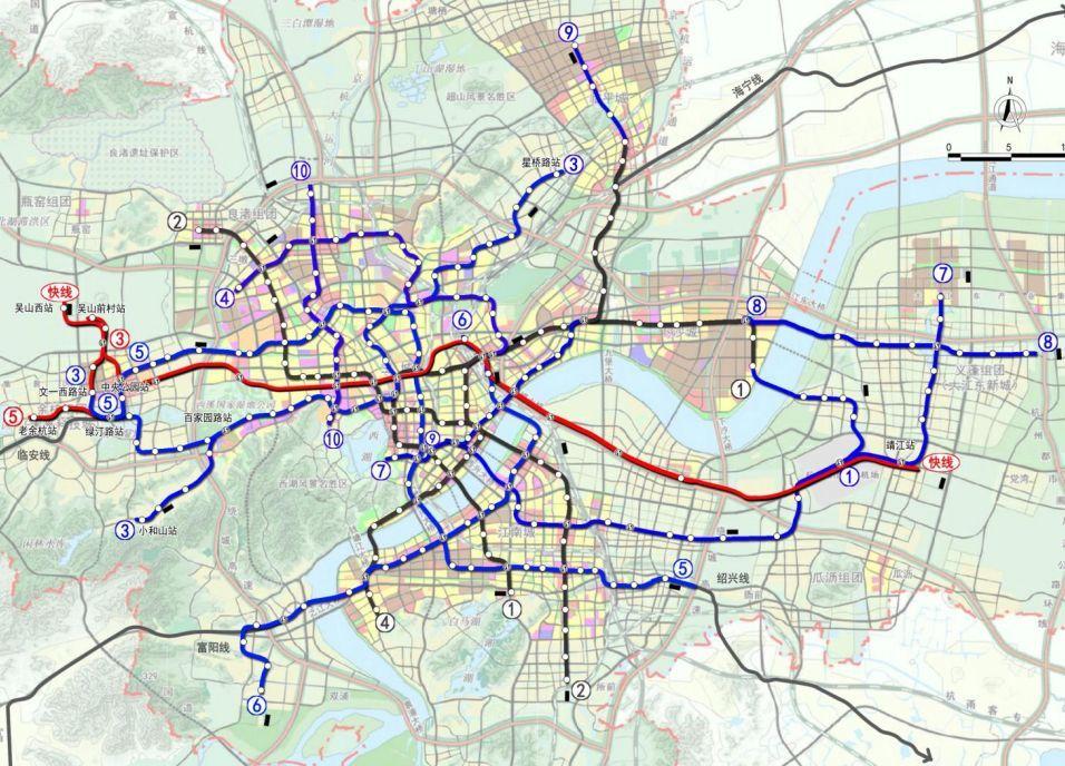 2020年杭州道路规划图