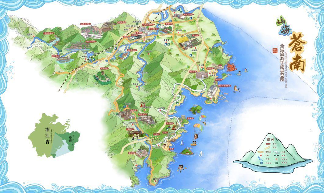 """来了!""""世界矾都""""手绘地图新鲜出炉,矾山旅游超详细!"""