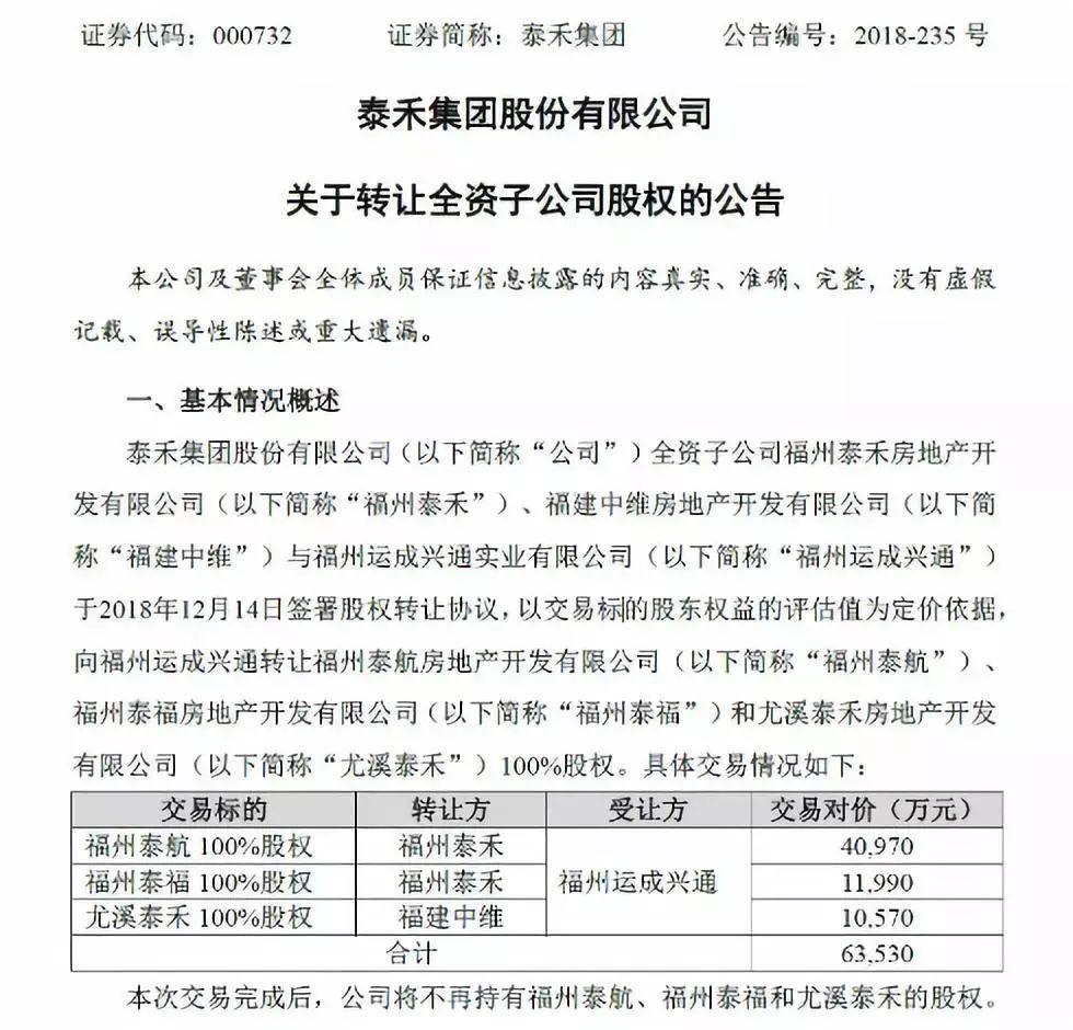 """泰禾集团大股东股票质秒速牛牛怎么玩押率近100%,""""正常商业行"""