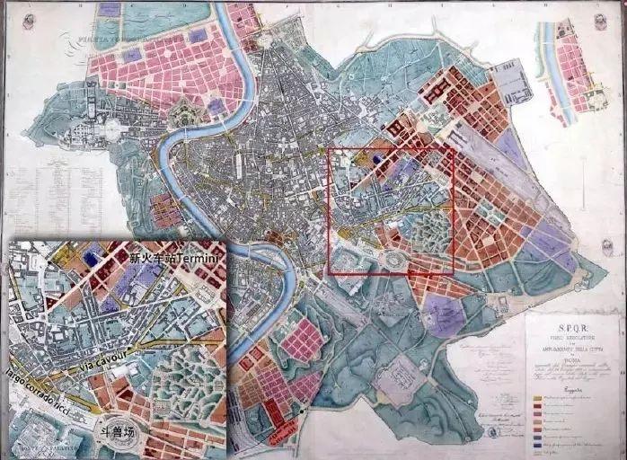 羅馬1883年城市規劃圖片