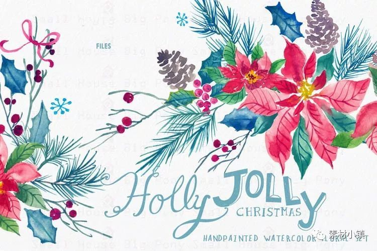 173.唯美水彩手绘花朵花束免扣png透明婚礼请柬卡片贺卡设计素材