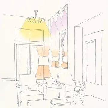 200平米餐厅手绘图