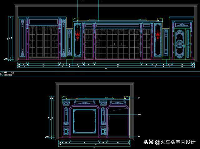 顶级美式豪宅设计cad施工图纸