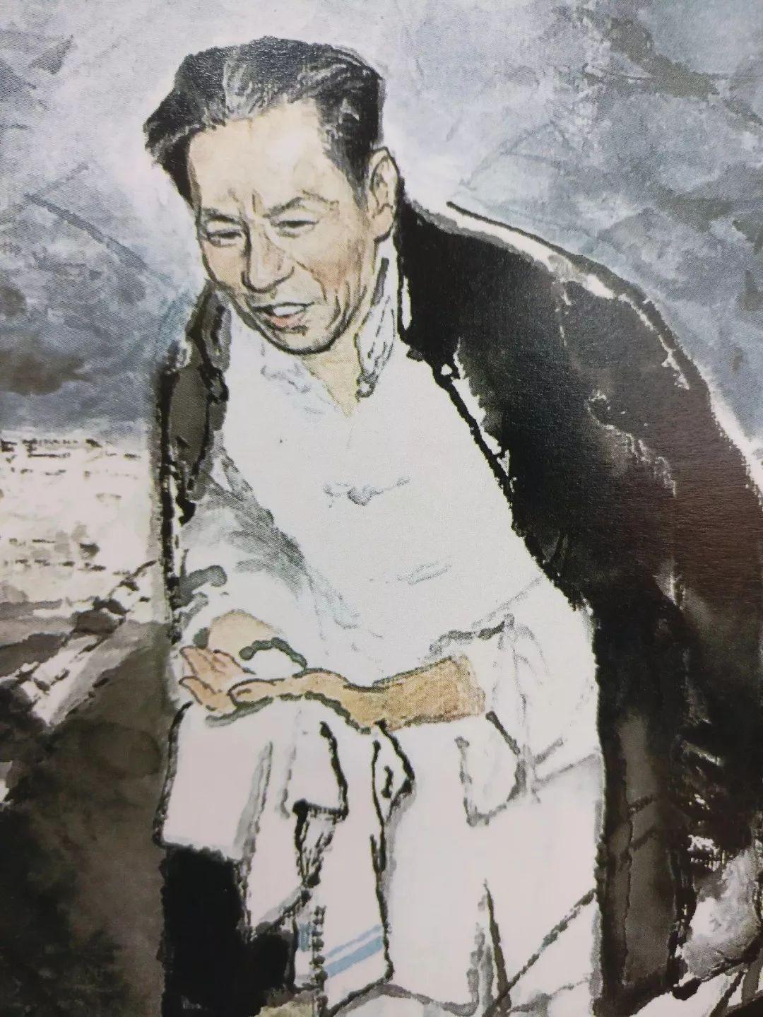 躹�k_周总理躹躬尽瘁死而后已的精神感天动地,作木炭素描《周总理在病中》