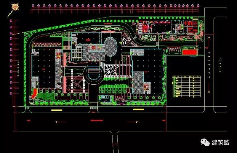 cad|工业园景观规划cad平面图图纸集