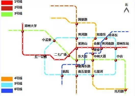 郑州地铁规划图.