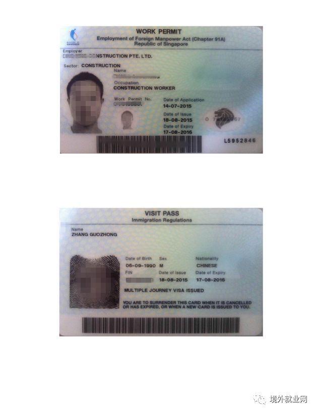 新加坡工作准证 c.新加坡公司的工作证明 d.新加坡纳税记录 e.