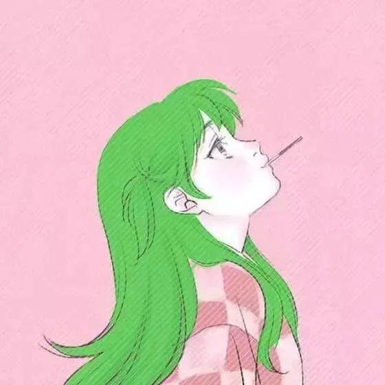 16组绿色情侣头像图片