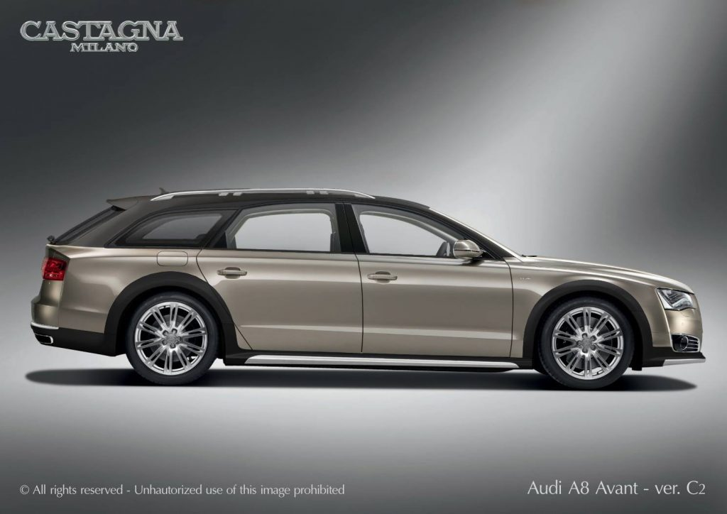 假如一辆奥迪A8,而且是 Avant Allroad套件 W12会