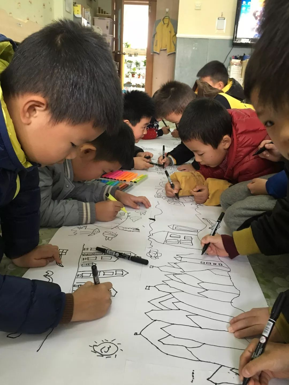 新城中心幼儿园班本化主题展播 海上风情 渔民画 大六班