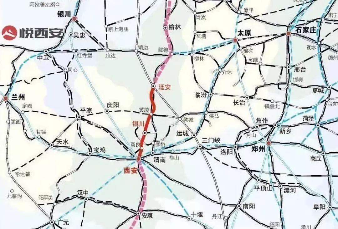 5年 2012年开通的西安至延安动车组列车经由郑西高铁,包西线运行,最高