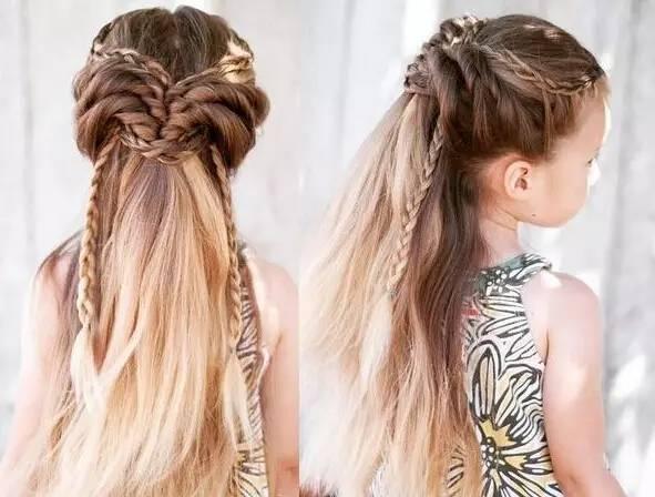 妈妈们编发学起来,赶快帮自己的小公主选一款发型吧.图片