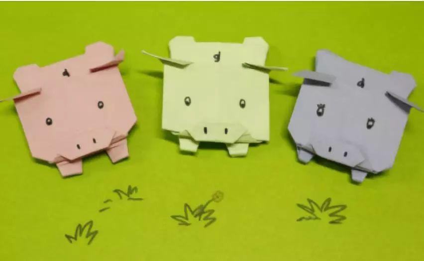 【元旦手工】2019年元旦必备手工,手工制作快乐的小猪
