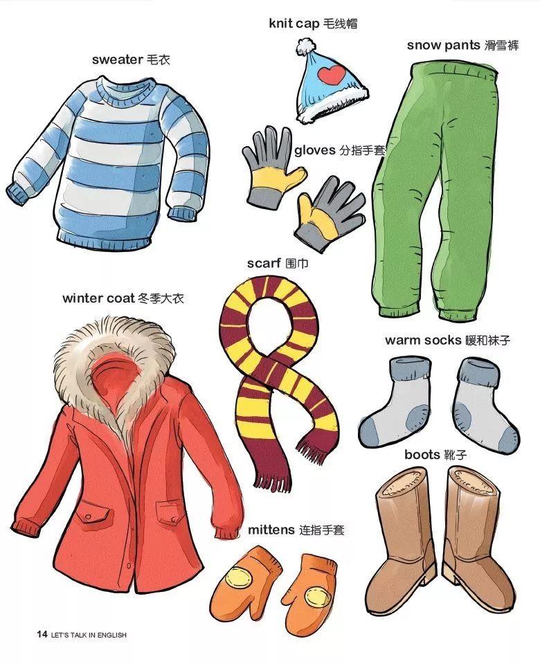 写冬天的英�y/g9��_冬季衣物的最全英文表述归纳,来学学这些有温度的表达