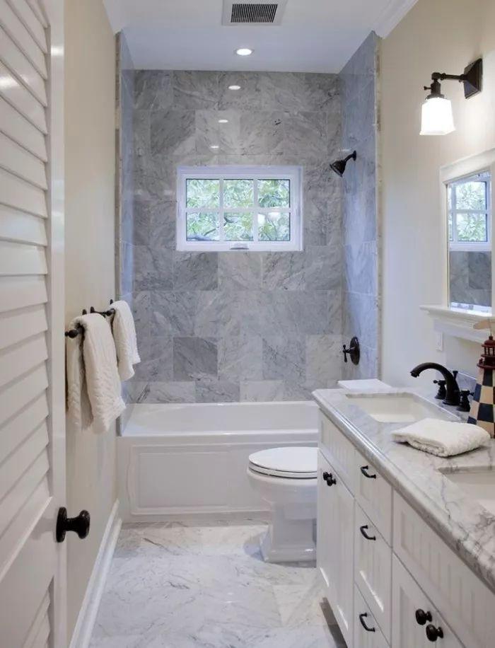 浴室卫生间装修效果图,淋浴房or浴缸?