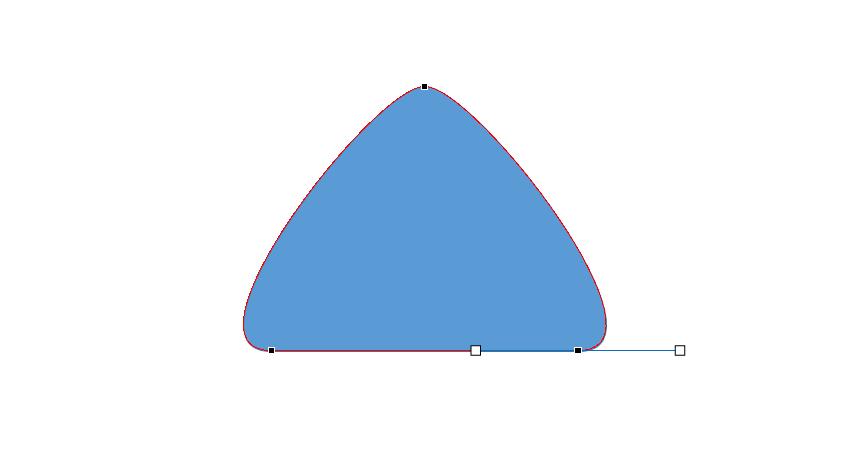 5,将顶点的直线柄略微拉长或调整,以获得更加饱满的造型图片