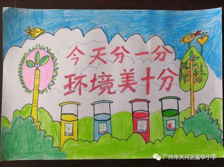 环境保护,从我做起 ——嘉华小学举行环保绘画比赛活动