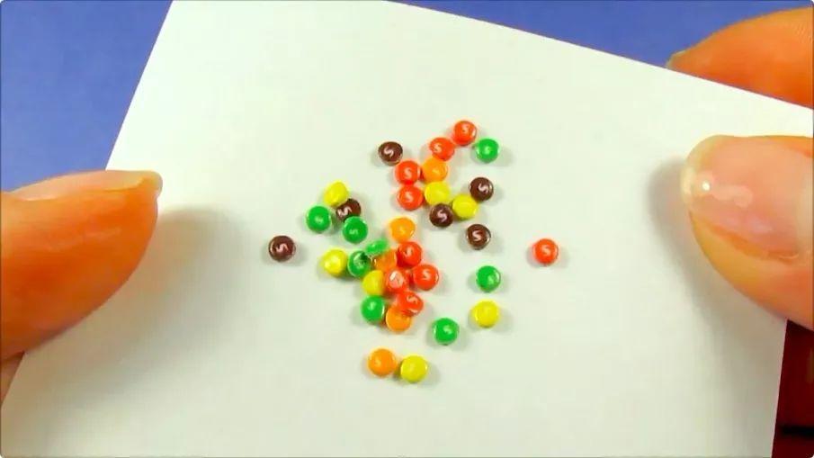 【食物】给芭比娃娃做彩虹糖零食(含图纸)