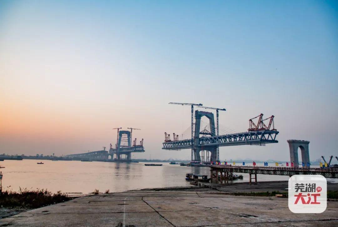芜湖世界第一的长江大桥,商合杭高铁有望通车运营
