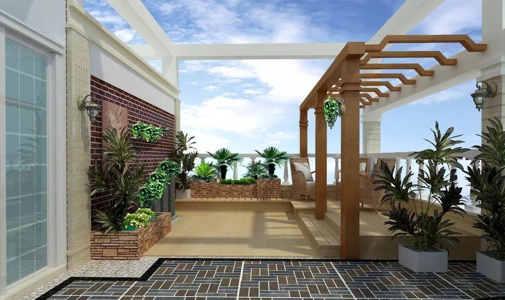 楼顶私家花园效果图二图片