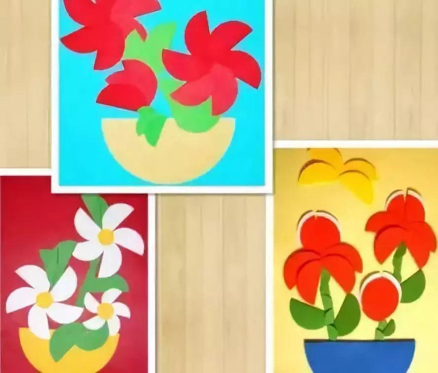 制作步骤:我们不讨论花儿的颜色,只要先准备好各色圆形就好哦