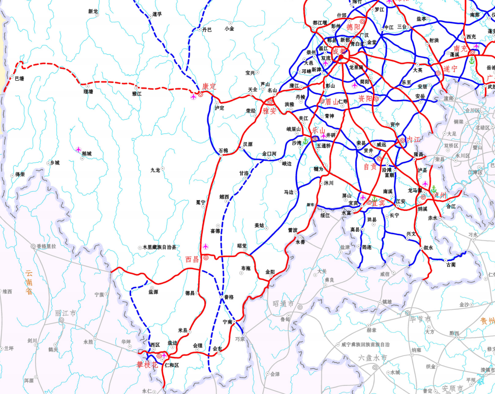 G4216 线宁南至攀枝花段高速详细路线(宁南-会东-会理-攀枝花)