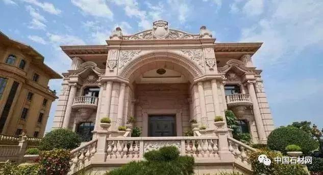 别墅豪宅石材外墙实景图 珍藏版