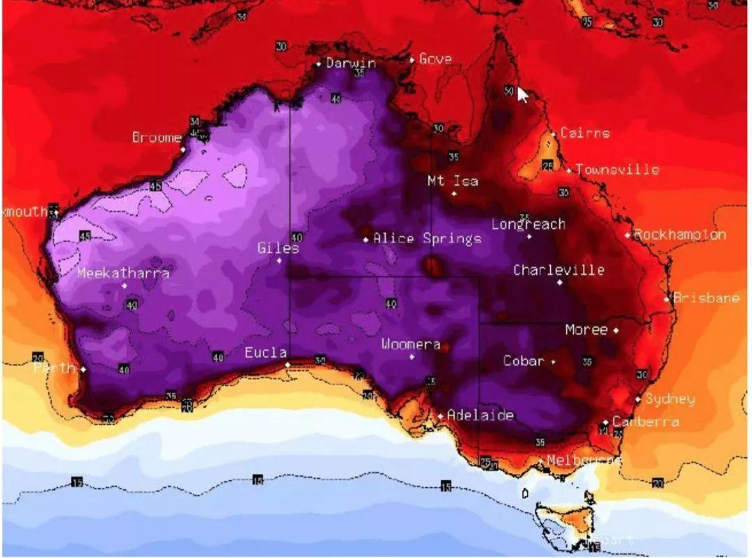 澳大利亚南部热浪_南澳大利亚北部的城镇,包括marree和oodnadatta,预计明天将达到42度.