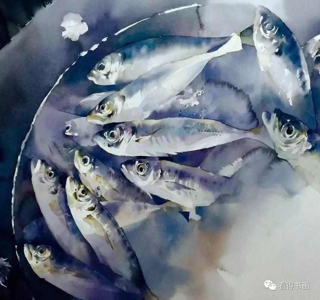 """运用水彩方式解构""""宋""""山水,是杨建勇独创的艺术形式图片"""