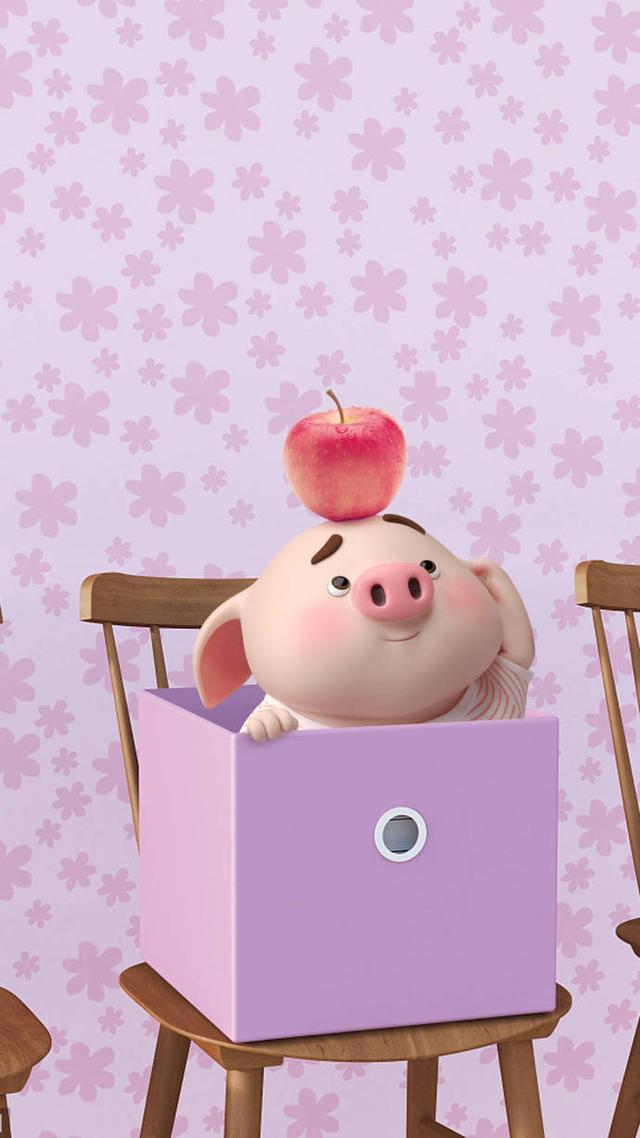 可爱卡通小猪手机壁纸 2019猪年壁纸情话猪小屁 高清图片