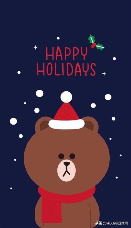 2018圣诞壁纸图片卡通版可爱 圣诞节好看的手机壁纸图片