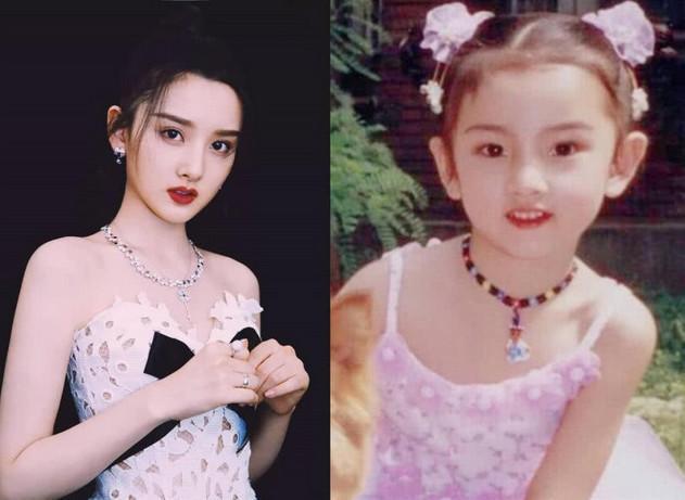 """女星们""""童年照"""",躲开了杨幂,欧阳娜娜,没想到被iu惊艳到了"""
