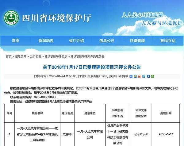 """2019年首车SUV一汽-大众新车型命名""""捷达""""?_山东11选5开奖结果"""