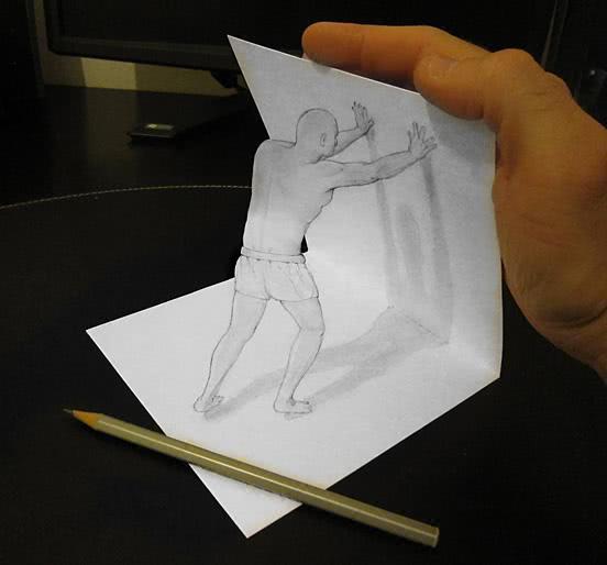 diddi擅长用铅笔画3d视觉画,一支铅笔,一张纸,就能画出令人惊叹的立体图片