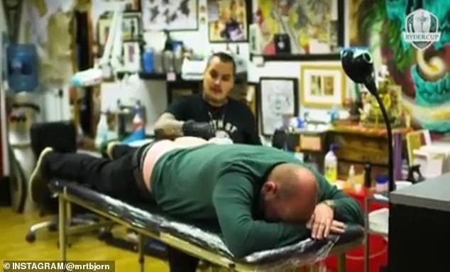 bob电竞-比约恩兑现诺言将莱德杯纹在身上 只有妻子能看见