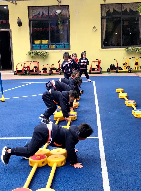 童帅保利花园幼儿园|强体能,促发展,游戏化的体能大循环活动图片