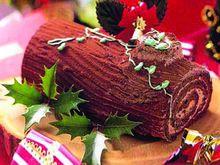 树干似的美食(buchedenoel)是著名的法国圣诞蛋糕.美食邀请函图片图片
