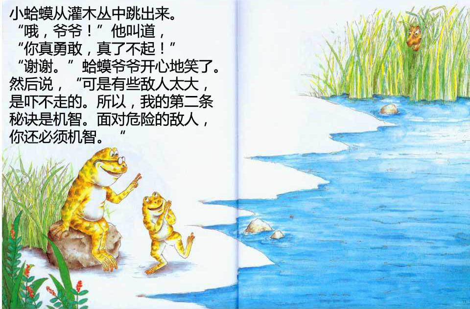 秘诀绘本儿童《课件爷爷的蛤蟆》勇敢,机智,不可不学的生存之道四季歌故事京城图片
