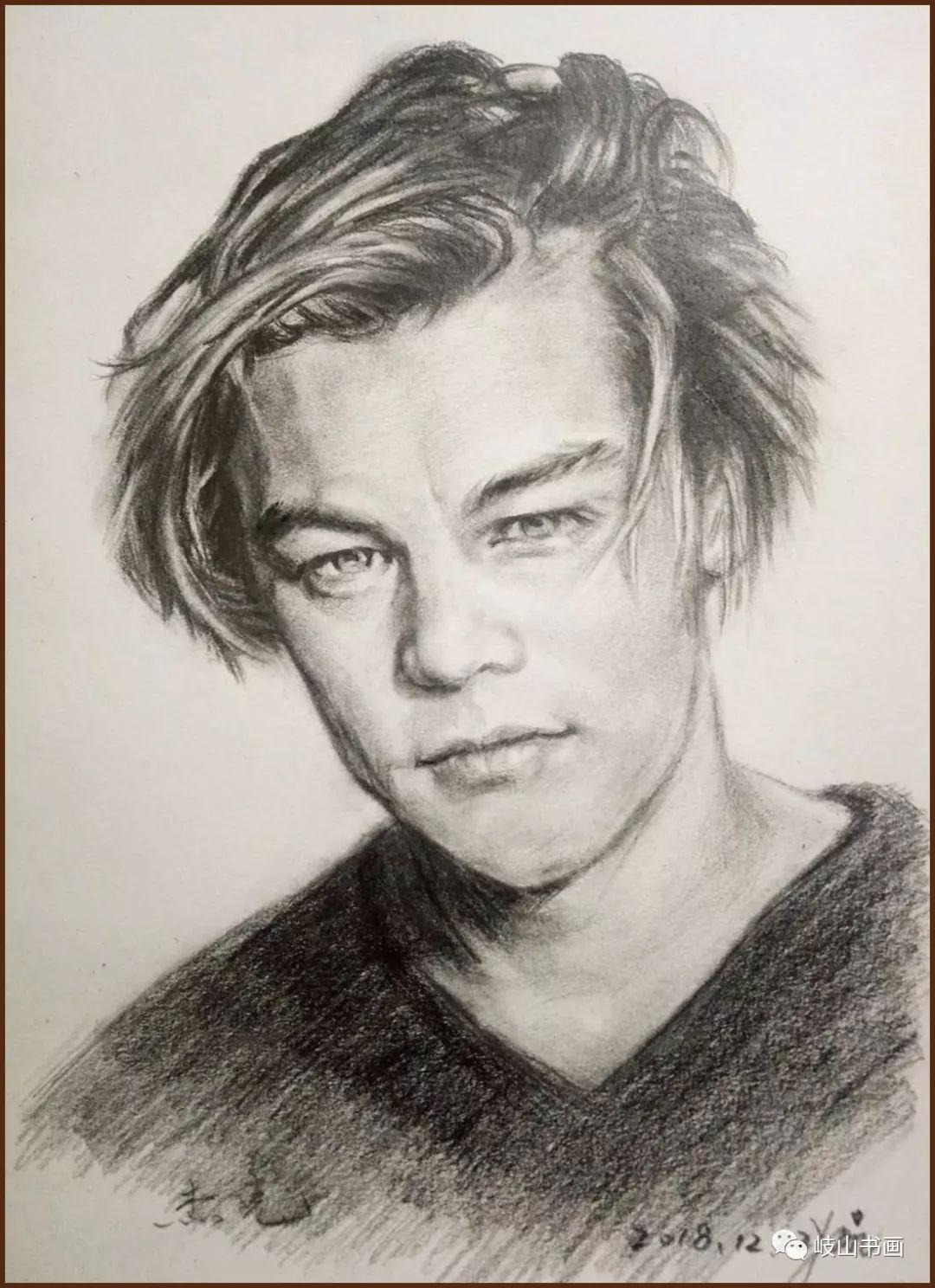▲杨太民 铅笔素描人物肖像图片