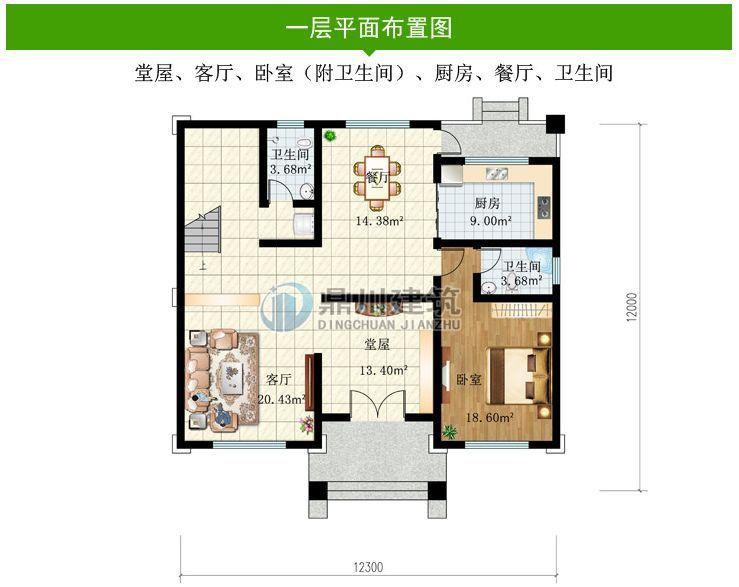 农村建房成趋势,这款三层别墅美观实用,老家有宅基地的,赶紧建!图片