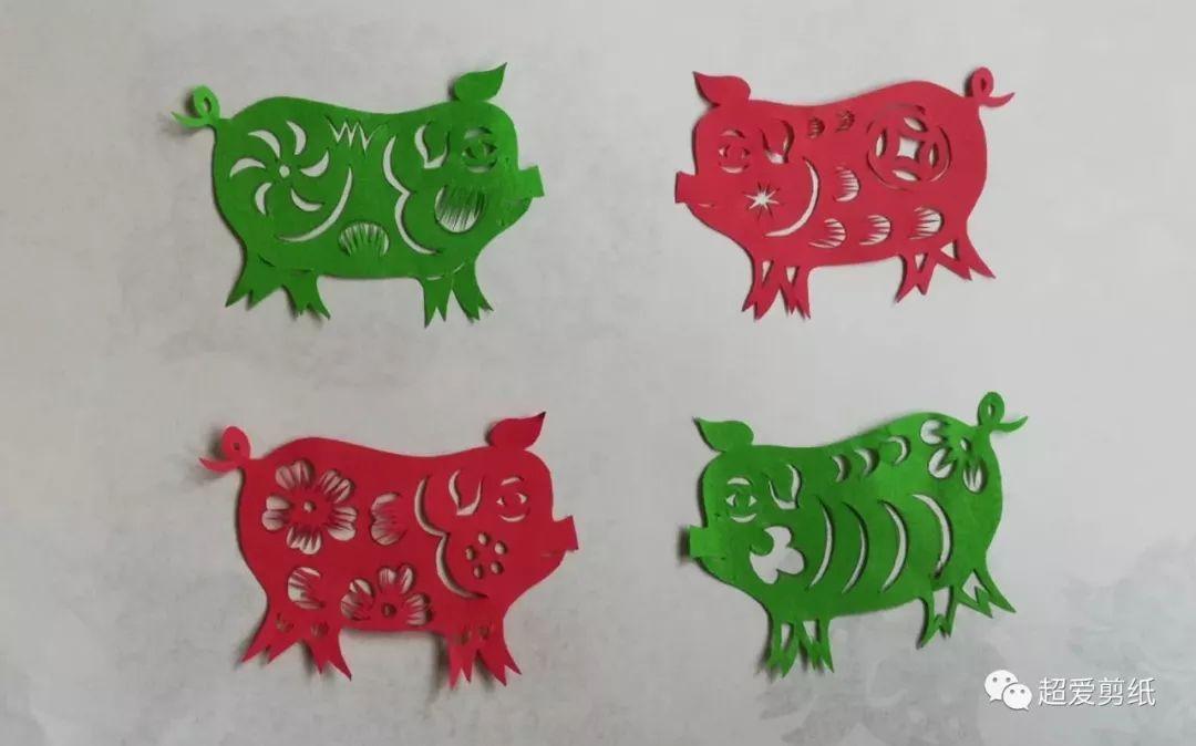 39 剪纸传统图案 之 猪年剪纸图案1图片