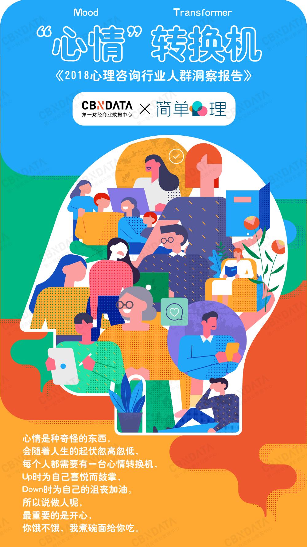 CBNData发布《2018心理咨询行业人群洞察报告》