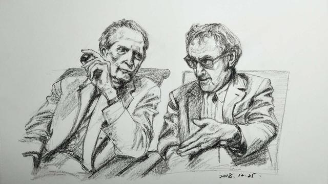 彩铅画人物手绘风景钢笔画